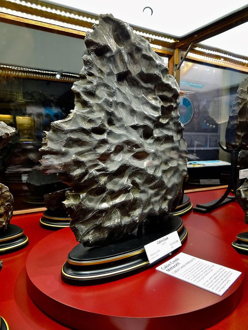 Meteorito de hierro encontrado en Cabin Creek en 1886, Arkansas, Estados Unidos.