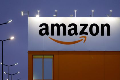FILE PHOTO: The logo of Amazon in Lauwin-Planque, northern France, February 20, 2017. REUTERS/Pascal Rossignol/File Photo