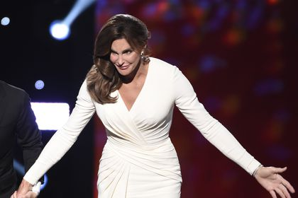 FILE - In this Wednesday, July 15, 2015 file photo, Caitlyn Jenner accepts the Arthur Ashe award for courage at the ESPY Awards at the Microsoft Theater in Los Angeles. (Photo by Chris Pizzello/Invision/AP)