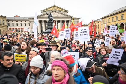 Rally against AfD party and right-wing terror