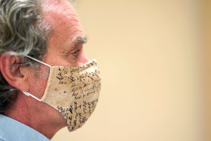 Fernando Simon, head of Spain's health emergency center, attends a news conference in Madrid