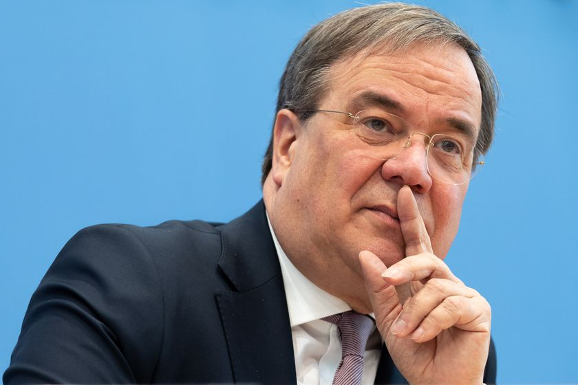 North Rhine-Westphalia State Premier Armin Laschet announces his candidacy for party leader ship