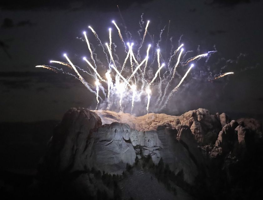 July 4th celebrations at Mt. Rushmore National Monument