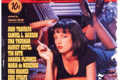 Cartel promocional de Pulp Fiction