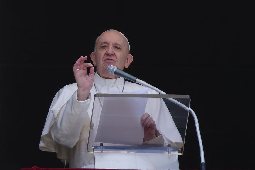 Pope Francis delivers Angelus prayer in Vatican