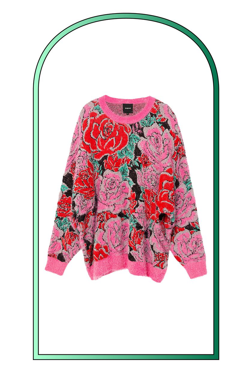 Jersey tricot floral oversize.
