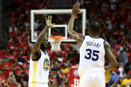 Draymond Green y Kevin Durant. USA Today