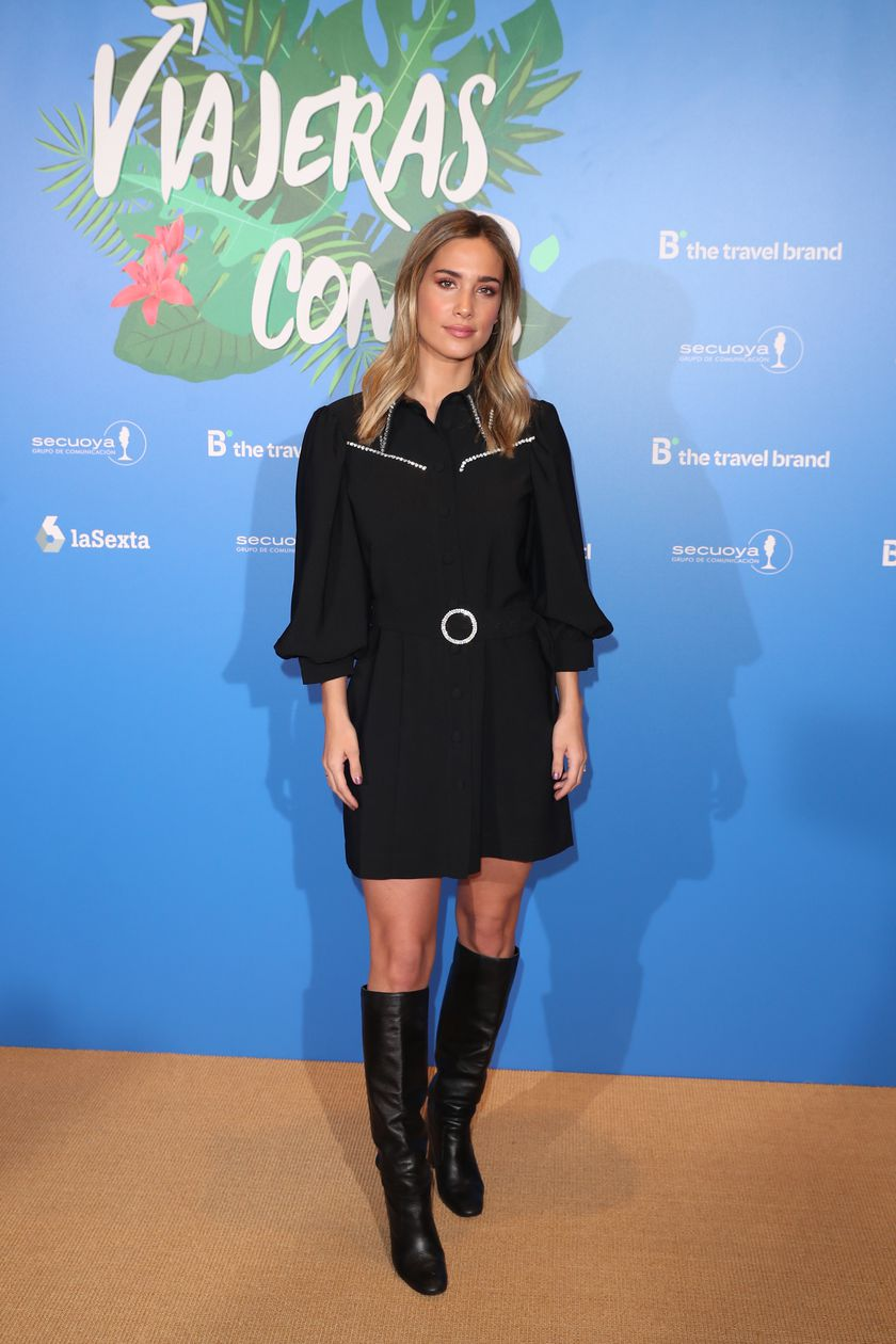 """Maria Pombo at photocall during presentation tv show """" Viajeras con B """" season 4 in Madrid on Wednesday, 26 February 2020."""