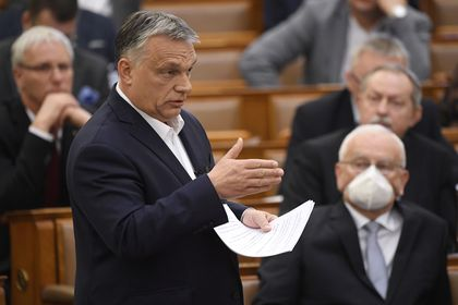 Hungarian PM Orban speaks to parliament
