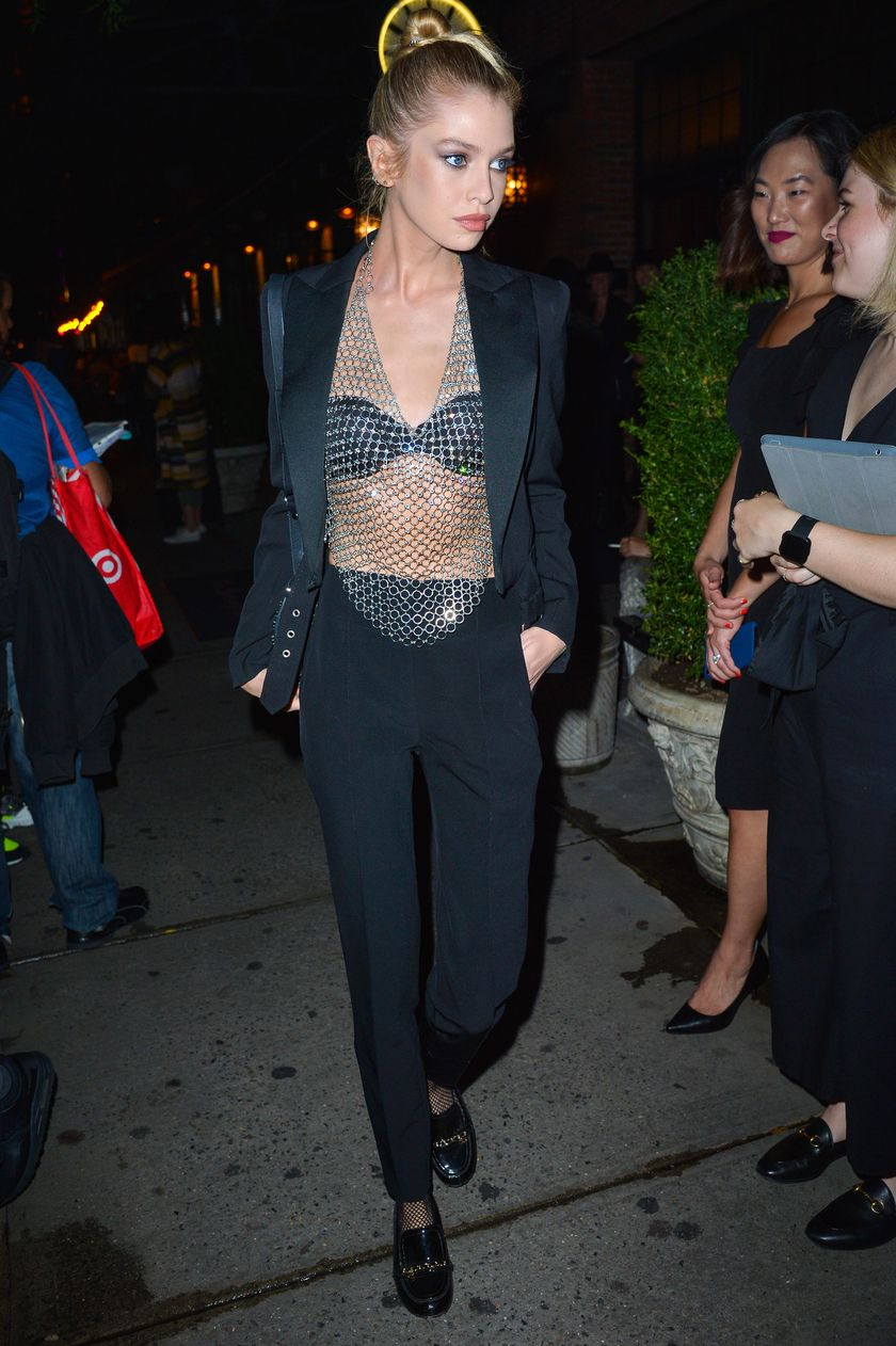 Model Stella Maxwell at an event for the Launch of LilyAldridge Perfume in Manhattan.
