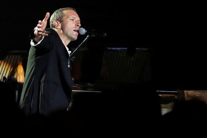 Coldplay performs at the Natural History Museum in London