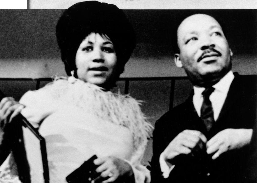 Aretha con Martin Luther King en 1960