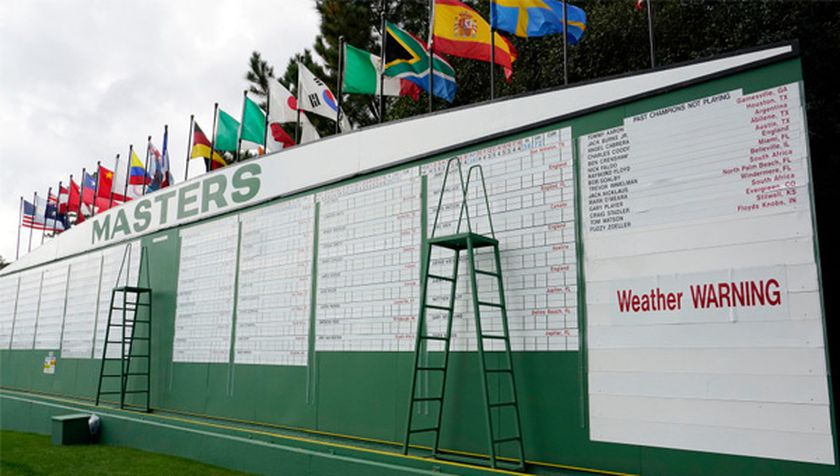 Lluvias en Augusta National