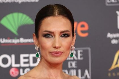 Model Nieves Alvarez at photocall of the 34th annual Goya Film Awards in Malaga on Saturday, 25 January 2020.