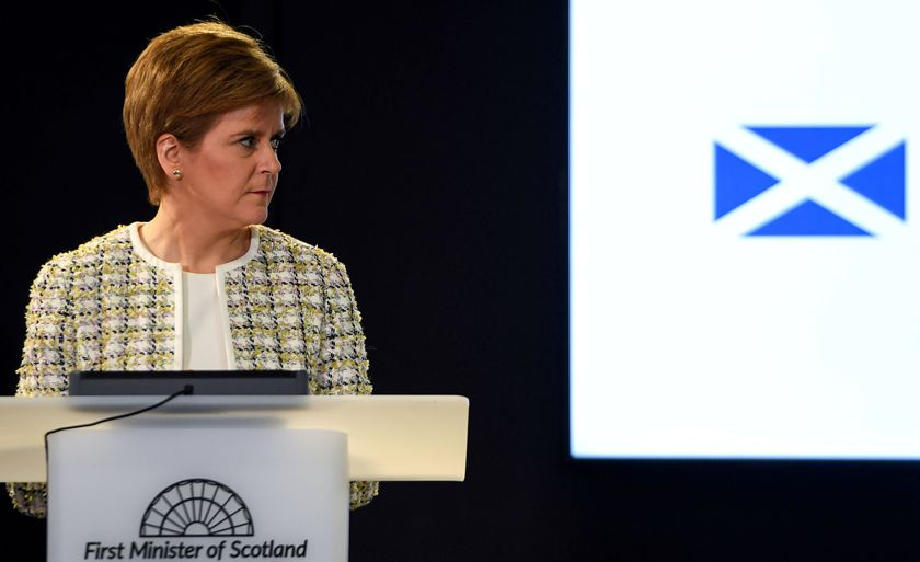 First Minister Nicola Sturgeon attends a news conference at St Andrew's House on coronavirus disease (COVID-19) in Edinburgh