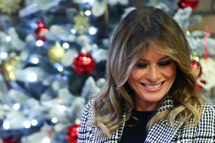 U.S. first lady Melania Trump visits Salvation Army Clapton centre in London