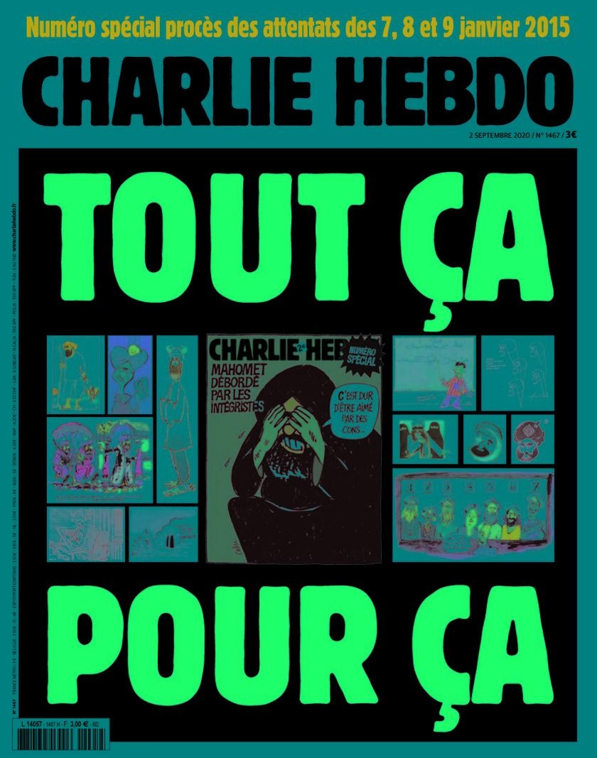 Cover of the Charlie Hebdo issue 02 September 2020