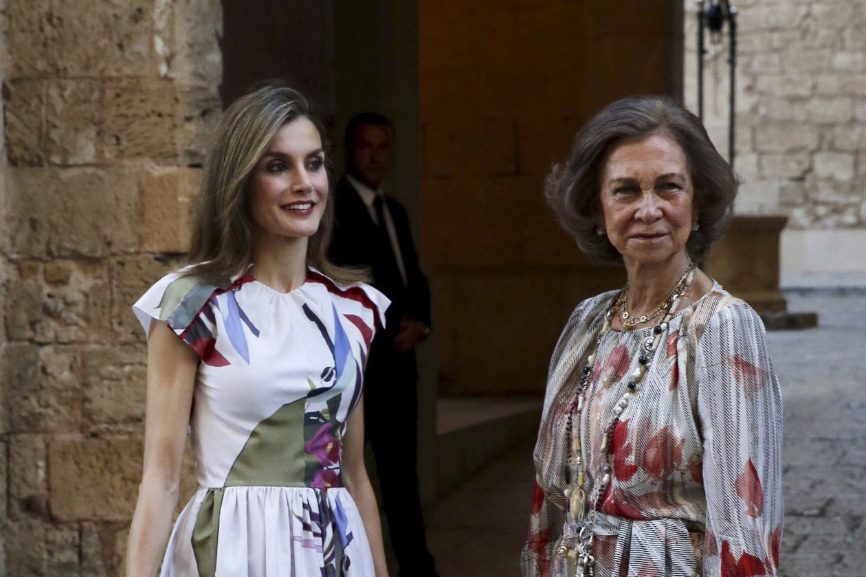 Queen Letizia 'copies' Queen Sofía and puts on her 40-year-old dress
