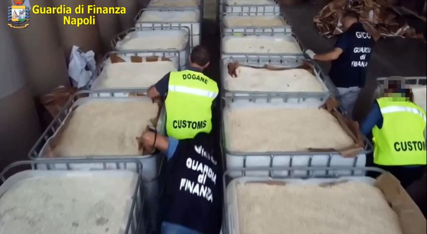 Italian police seizes world record 14-ton haul of amphetamines made by the ISIS group in Syria