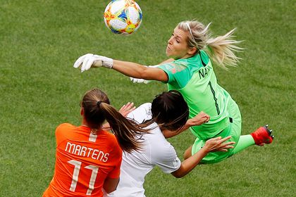 FILE PHOTO: New Zealand's Erin Nayler and Ali Riley in action during 2019 World Cup