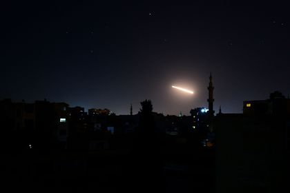 Light in the sky is seen in Damascus