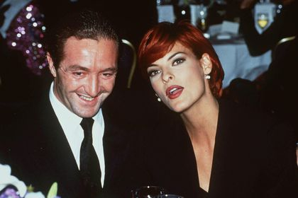 Gérald Marie, president of the Elite model agency for 25 years, with his former wife Linda Evangelista
