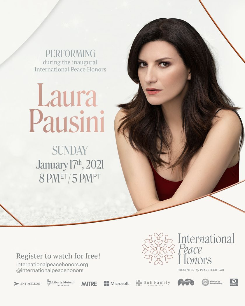 Laura Pausini en los  'International Peace Honors'.