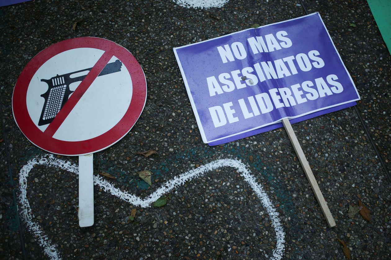 Colombian police are being investigated for not acting against civilians who shot