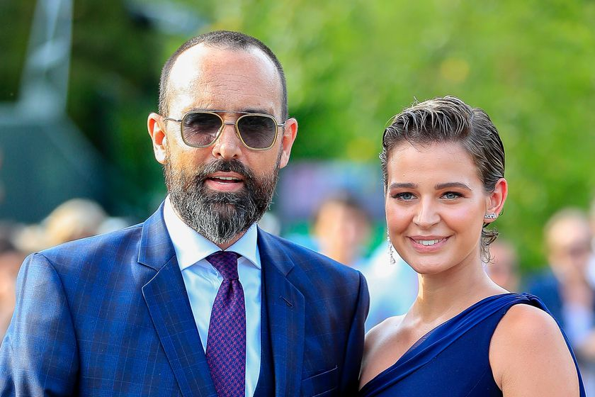 Model Laura Escanes and Risto Mejide during wedding of Maria POmbo and Pablo Castellano in Santander.  22/06/2019