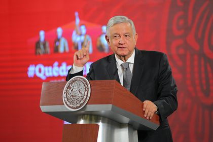 Mexican President daily press conference in Mexico
