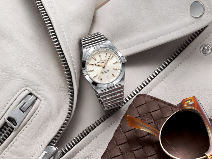 Chronomat Automatic 36 with a white dial and diamond hour markers_Ref. A10380101A2A1