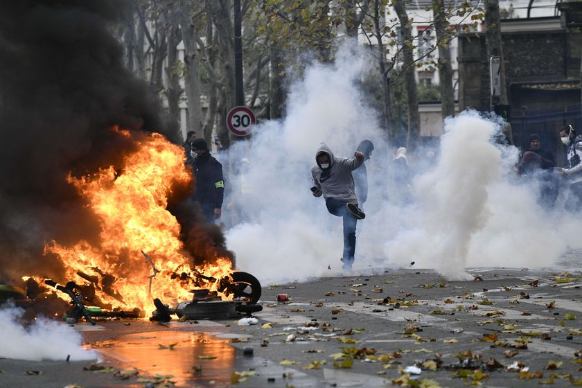 First anniversary of the yellow vests movement in Paris