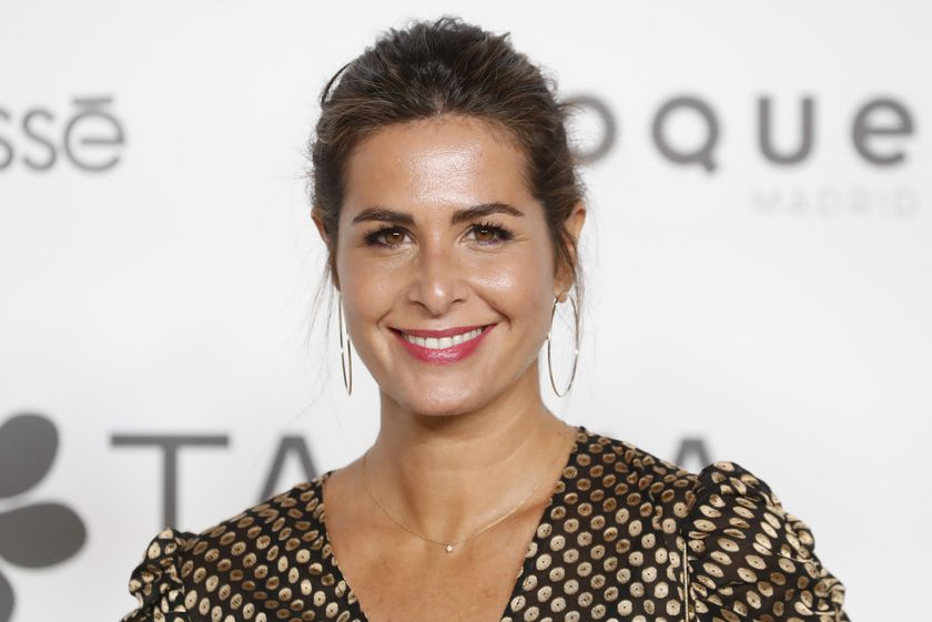 """Presenter Nuria Roca at photocall for 25 anniversary of """" Tacha Beuty """" in Madrid on Thursday, 10 October 2019."""