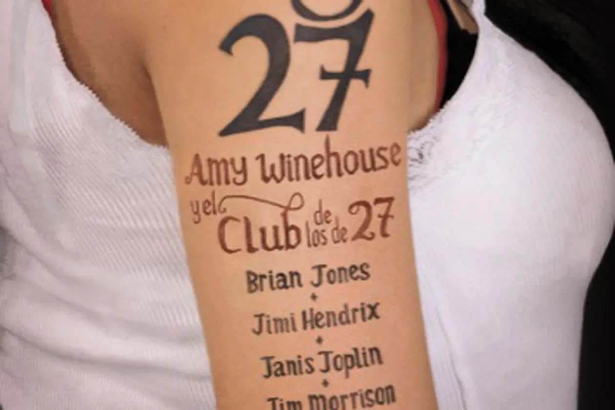 "Portada del libro de Howard Sounes ""Amy Winehouse y el Club de los 27"""