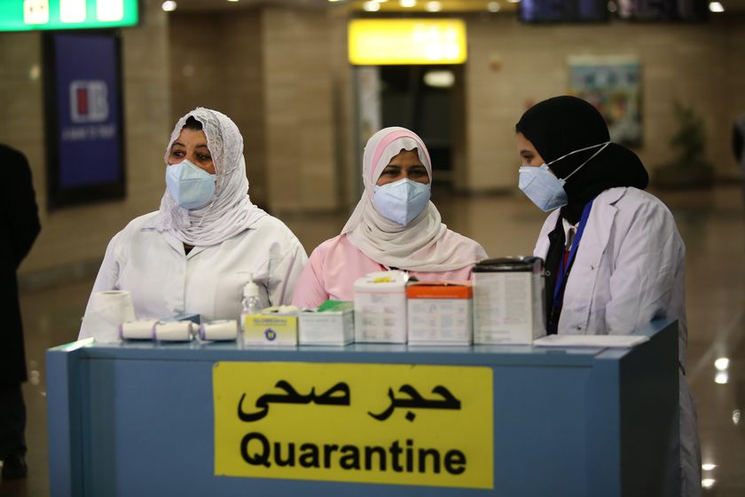 Security measures at Cairo airport