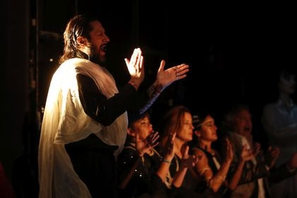 Rafael Amargo performing during the presentation of the show ''Yerma '' in Madrid