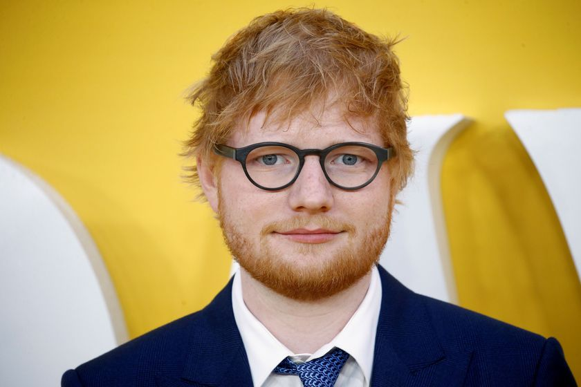 """FILE PHOTO: Cast member Ed Sheeran attends the UK premiere of """"Yesterday"""" in London, Britain, June 18, 2019. REUTERS/Henry Nicholls/File Photo"""