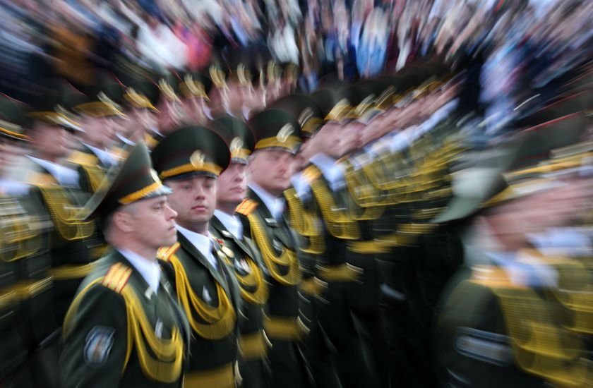 Victory Day military parade in Minsk
