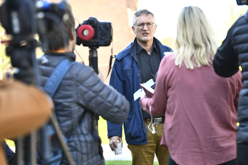Sweden's state epidemiologist Tegnell holds press conference on coronavirus pandemic