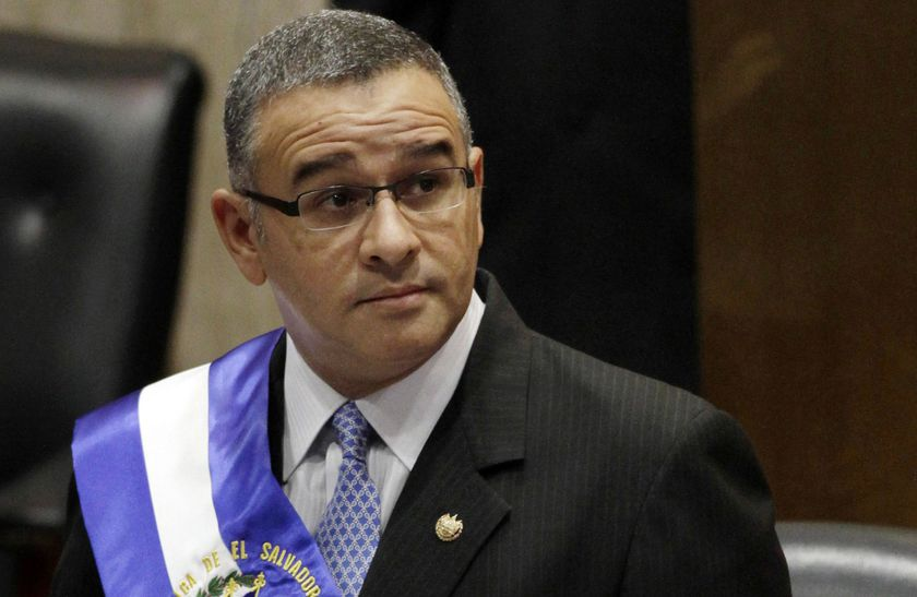 FILE - In this June 1, 2012 file photo, El Salvador's President Mauricio Funes stands in the National Assembly before speaking to commemorate the anniversary of his third year in office in San Salvador, El Salvador. The Salvadoran government announced on Thursday, Dec. 17, 2020, that it has new criminal charges against the ex-president. (AP Photo/Luis Romero, File)