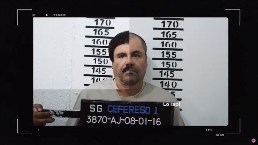 """A man believed to be Mexican drug lord Joaquin """"El Chapo"""" Guzman, is pictured in what is believed to be the Altiplano prison in 2016"""