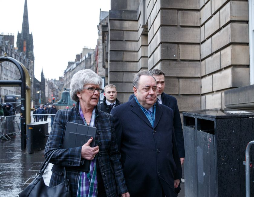Former Scottish first minister Alex Salmond on trial