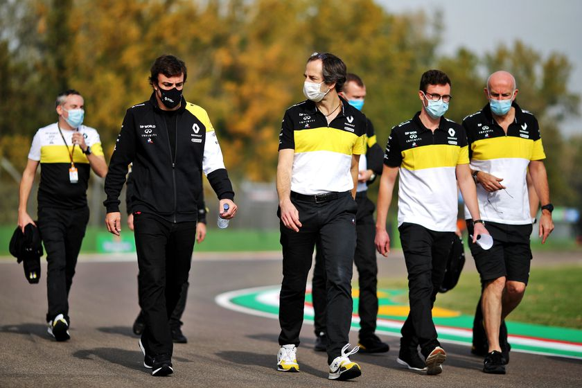 Formula One F1 - Emilia Romagna Grand Prix - Autodromo Internazionale Enzo e Dino Ferrari, Imola, Italy - October 30, 2020  Fernando Alonso with the Renault team on the circuit  FIA/Handout via REUTERS ATTENTION EDITORS - THIS IMAGE HAS BEEN SUPPLIED BY A THIRD PARTY. NO RESALES. NO ARCHIVES