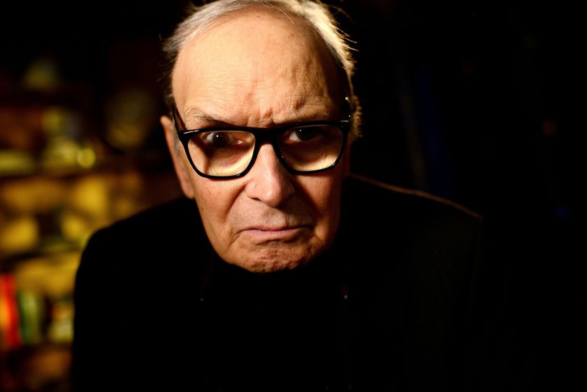 FILE PHOTO: Italian composer Ennio Morricone poses for a portrait at the O2 Arena in London