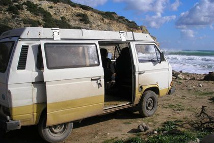 A Volkswagen camper van, used by a suspect who may be connected to the disappearance of the British child Madeleine McCann 13 years ago, is seen in this undated handout image released by the UK Metropolitan Police