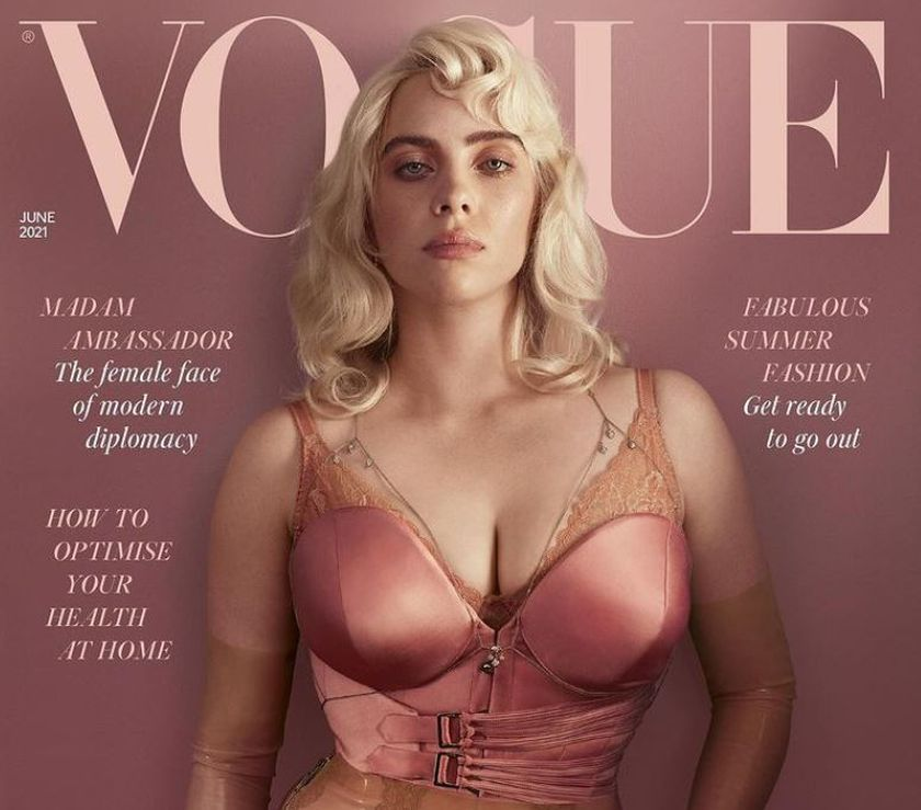 Portada Vogue UK protagonizada por Billie Ellish