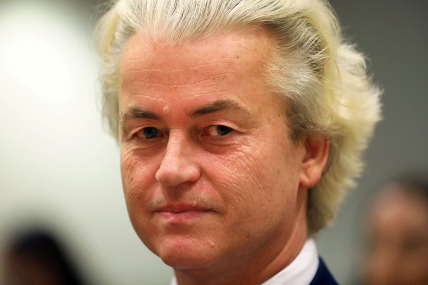 FILE PHOTO: Dutch anti-Islam politician Geert Wilders appears in court in Amsterdam