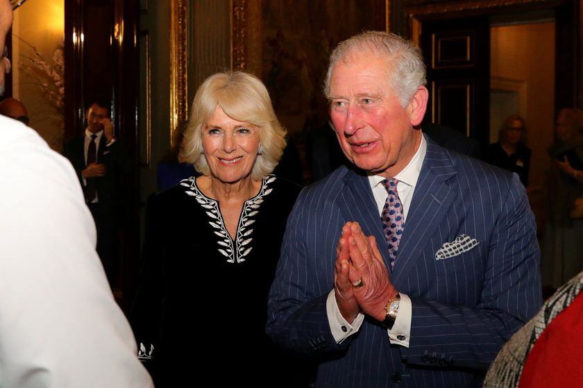 FILE PHOTO: Britain's Prince Charles and Camilla, Duchess of Cornwall attend the Commonwealth Reception at Marlborough House, in London
