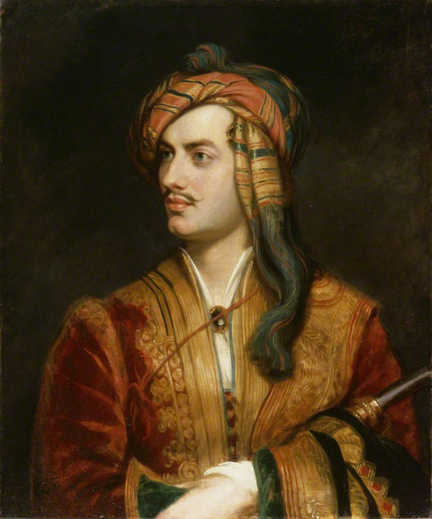 Retrato de Lord Byron de Thomas Phillips, de alrededor de 1835 que se conserva en la National Portrait Gallery