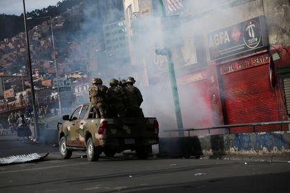 Clashes between supporters of former Bolivian President Evo Morales and the security forces, in La Paz